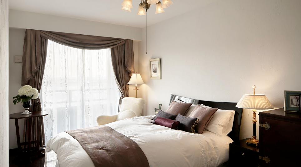 健康な塗り壁材ダイアトーマスの例:ベッドルーム