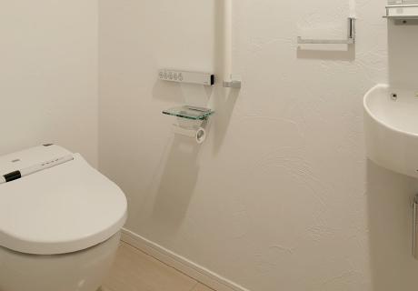 健康な塗り壁材ダイアトーマスの例:トイレ